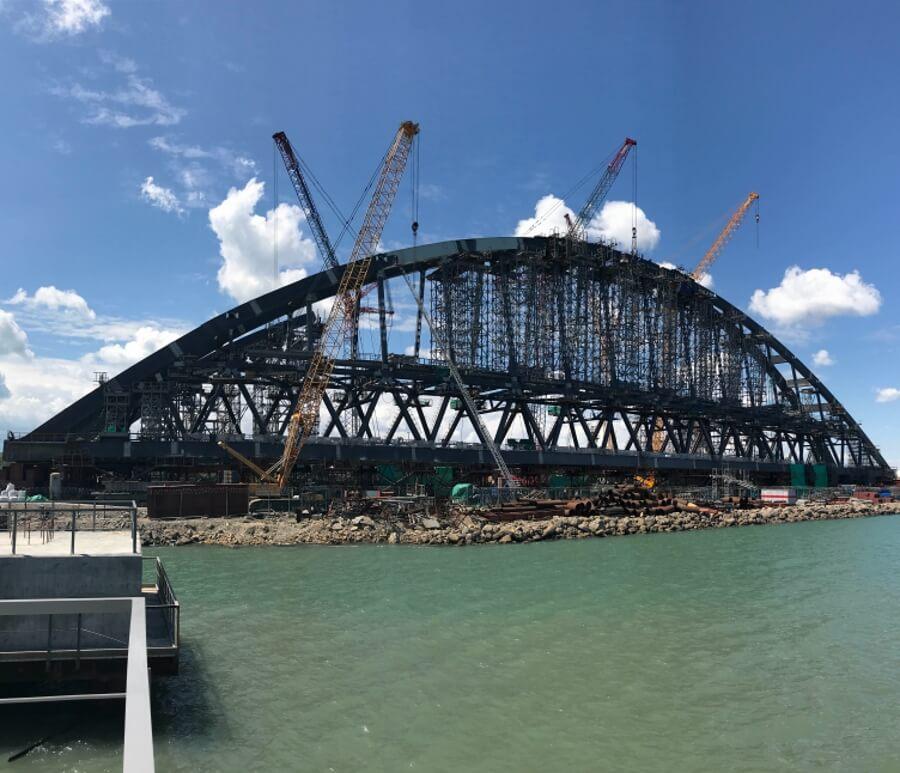 для крымский мост установка арки назвать приемником